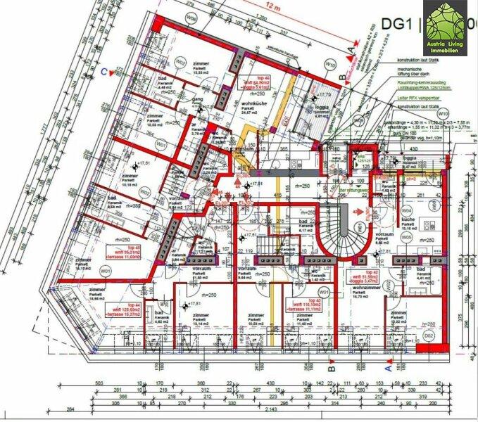 5 Dachgeschoßwohungen Erstbezug Altbau--Terrasse/Loggia /  / 1050Wien / Bild 5