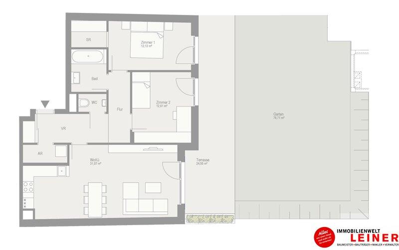 Traumhafte 3-Zimmer Gartenwohnung in Schwechat  - unbefristeter Mietvertrag! Objekt_9810 Bild_529