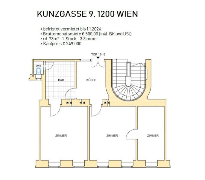 Eigentumswohnung, Kunzgasse, 1200, Wien