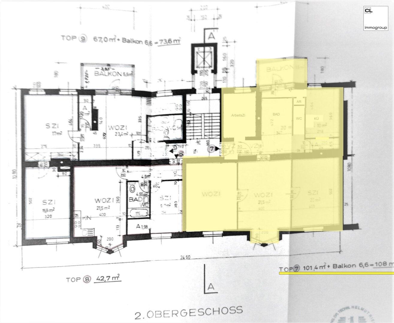 Plan zu Charismatische Altbauwohnung in schönem Gründerzeithaus, nahe Salzach (c) CL-Immogroup, www.cl-immogroup.at