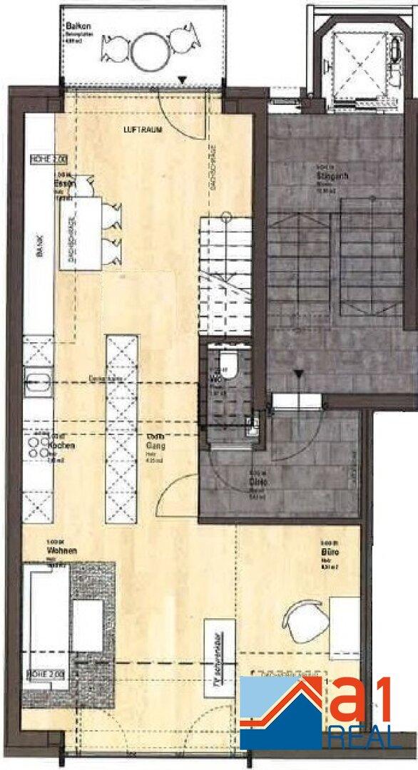 Grundrissplan Ebene 1