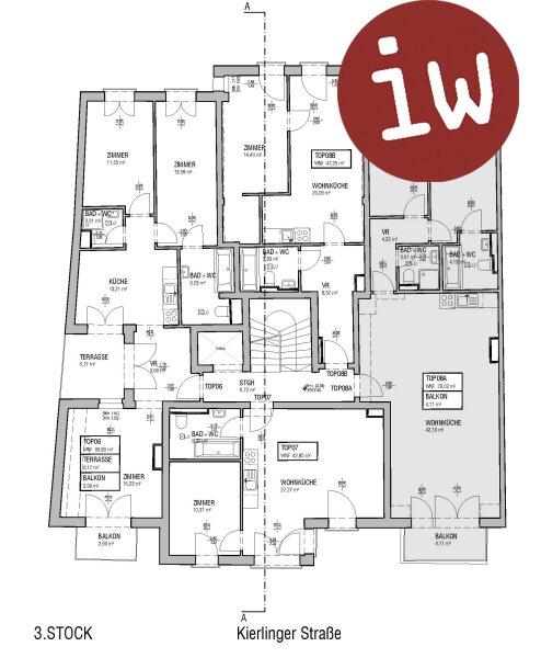 3 Zimmer Eigentumswohnung, mitten im Zentrum Klosterneuburg, Balkon, neuwertig! Objekt_563 Bild_140