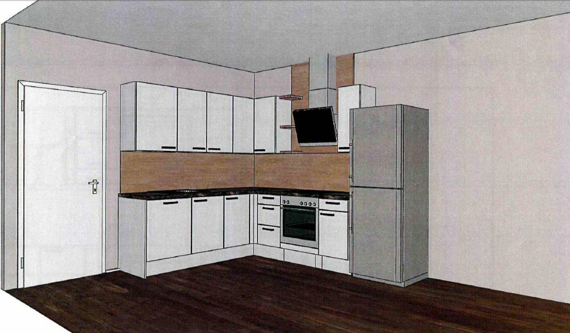 geplante Küche
