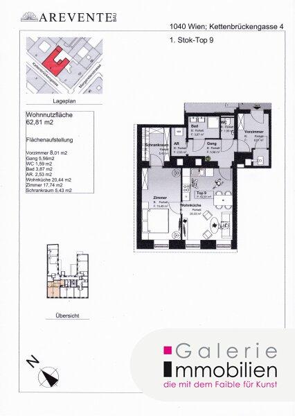 Exklusive Altbauwohnung in revitalisiertem Biedermeierhaus - SW-Ausrichtung Objekt_31846 Bild_405