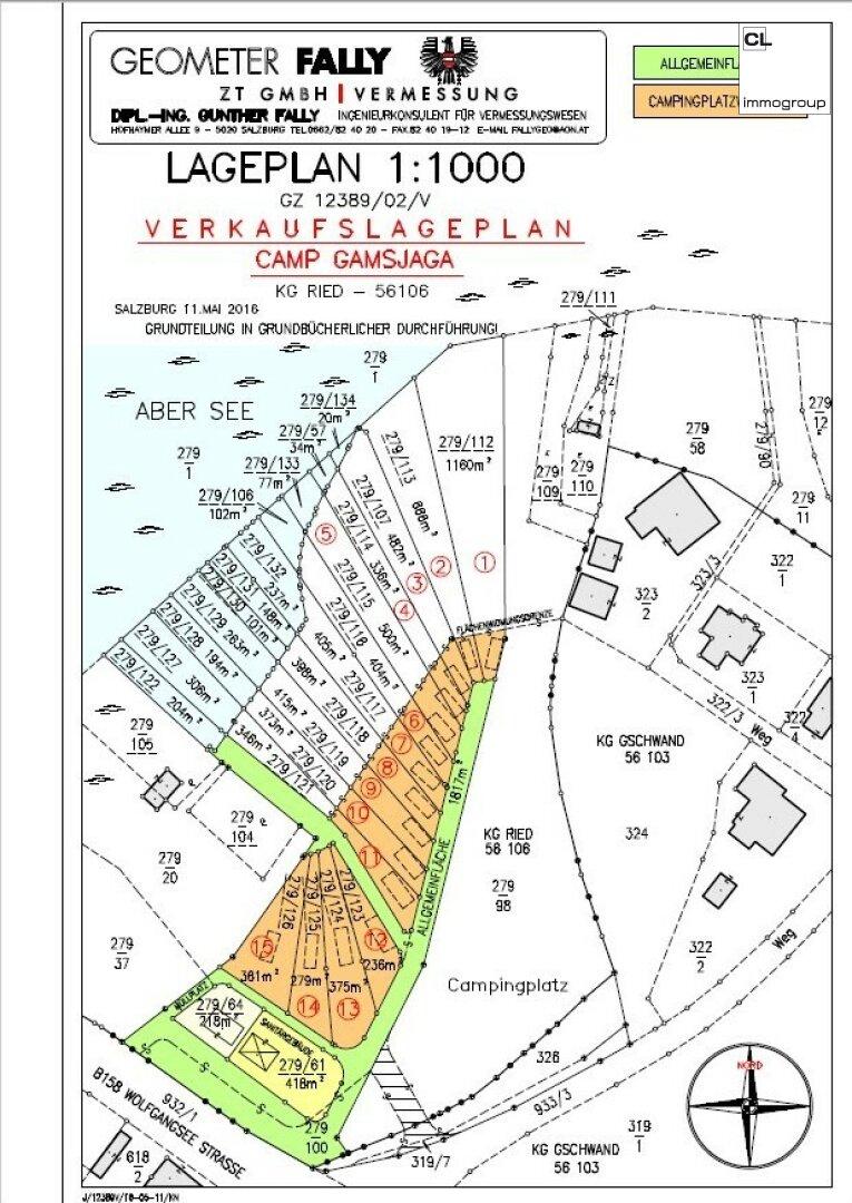 Lageplan Seegrundstücke Abersee