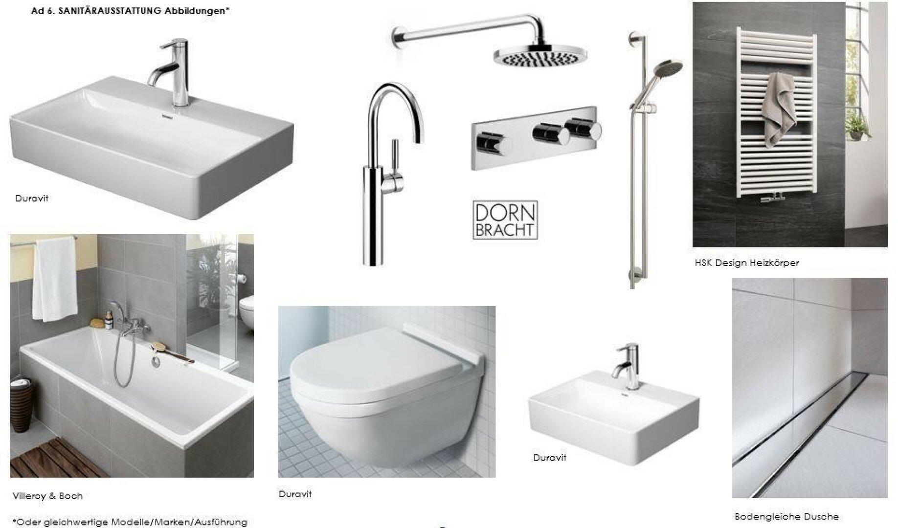 Hochwertige Sanitärausstattung