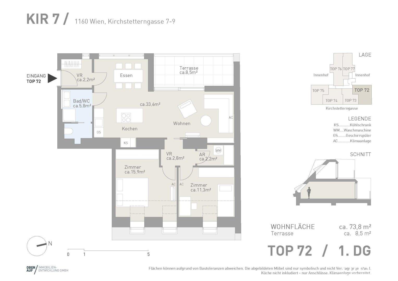 Wohnungsplan Top 72
