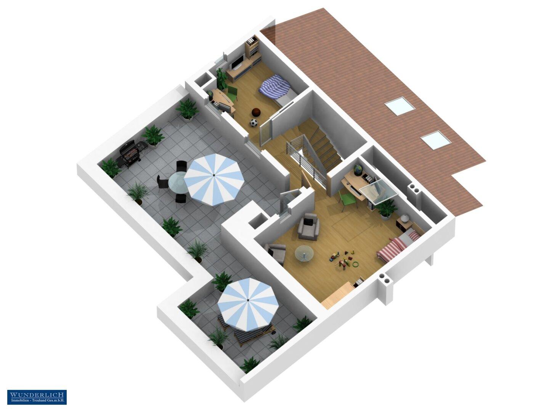 3D-Ansicht 1 - 2. Ebene