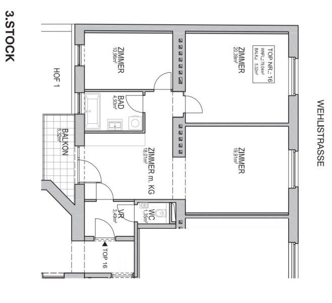 ++NEU++ Kernsanierter 3-Zimmer Altbau-Erstbezug mit Balkon, sehr gute Raumaufteilung! /  / 1200Wien / Bild 15