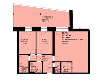 Neuwertige 3-Zimmer-Terrassenwohnung - Photo 3