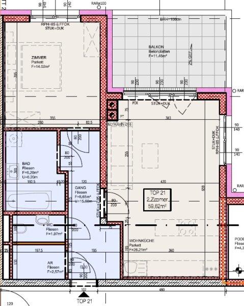 Top 21 - Freifinanzierte 2 Zimmer Wohnung mit Balkon - MIETEN oder MIETKAUF /  / 2700Wiener Neustadt / Bild 4