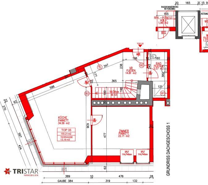 NEU! ++ Erstbezug nähe ?Siebenbrunnenplatz?: Exklusive ca. 155 m² DG- Wohnung mit Terrasse, 4 Zimmer, 1050 Wien (Top 35) ++ /  / 1050Wien / Bild 8