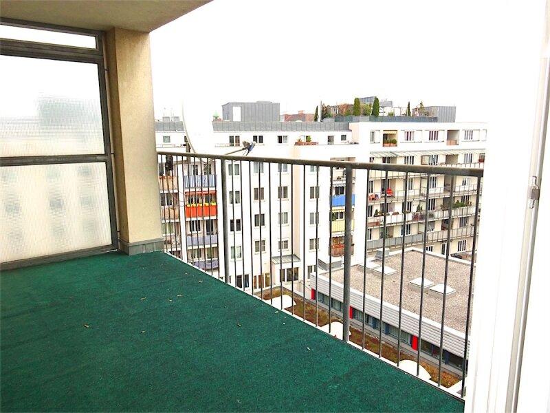 Loggiaweitblick:  2 Zimmer + Wohnküche, 6. Liftstock, Baujahr 1995, sonnig + ruhig, U3-Nähe! /  / 1030Wien / Bild 1