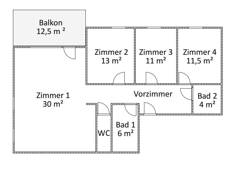 Erstbezug Frühjahr 2018: Vier-Zimmer-Wohnung mit Balkon /  / 1140Wien / Bild 1