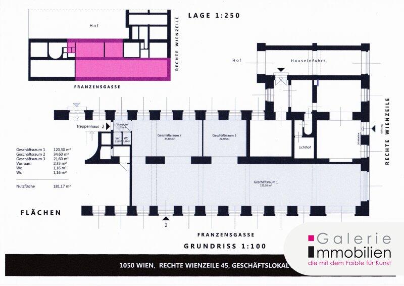 Topsaniertes Geschäftslokal/Büro mit hohen Gewölbedecken - U4 Kettenbrückengasse Objekt_31853