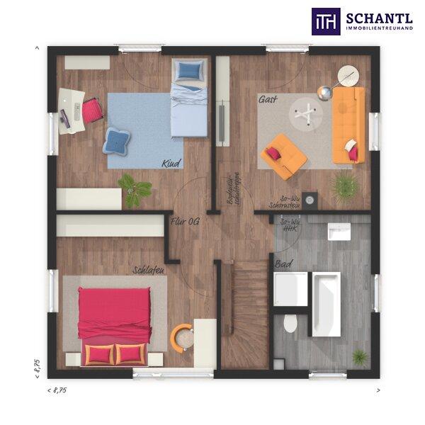 ITH #WOW! Leistbares Einfamilienhaus mit Südausrichtung und Fernblick + 4 Zimmer + 5 Jahre Gewährleistung + Fertigstellungsgarantie inklusive!!! /  / 8551Wies / Bild 3