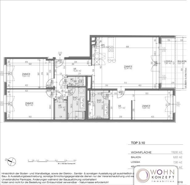Goldegg Gardens: 127m² Erstbezug + 15m² Süd-Balkon - 1040 Wien /  / 1040Wien / Bild 9