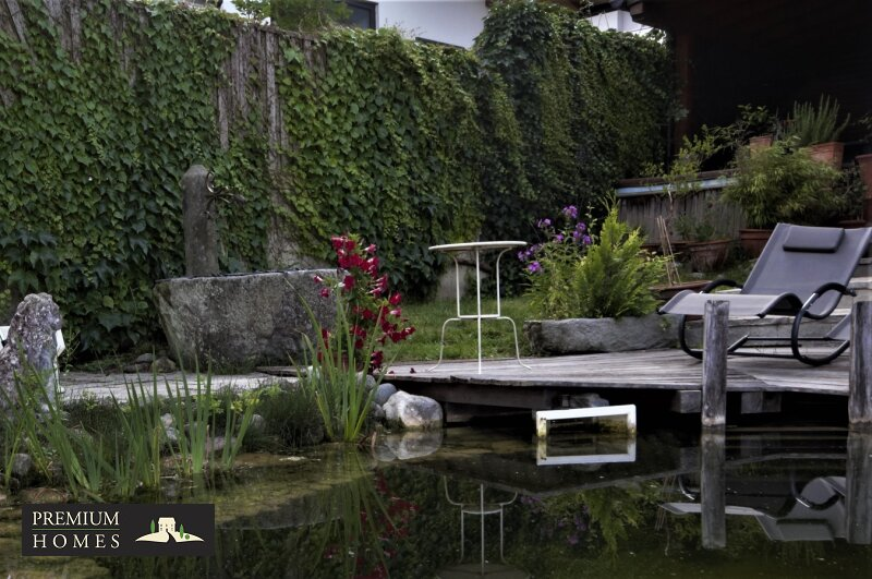 Breitenbach am Inn - Elegantes Landhaus - Verweilplatz am Teich