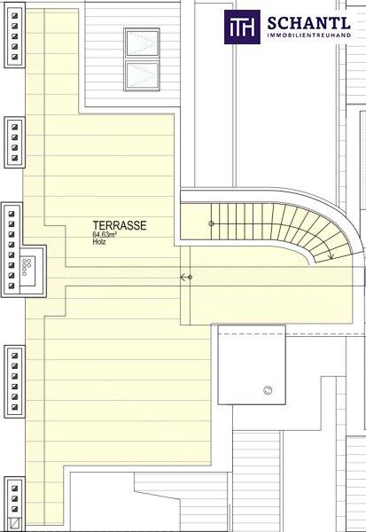 IHR TRAUM im Dachgeschoss! Erstbezug mit vier Zimmer auf zwei Etagen, plus über 64m² Panorama-Dachterrasse! /  / 1170Wien / Bild 3