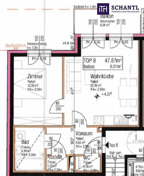 Lebensqualität pur - Worauf warten Sie? TOP Neubau - Erstbezug mit perfekter Raumaufteilung und hofseitigem Balkon! /  / 1210Wien / Bild 3