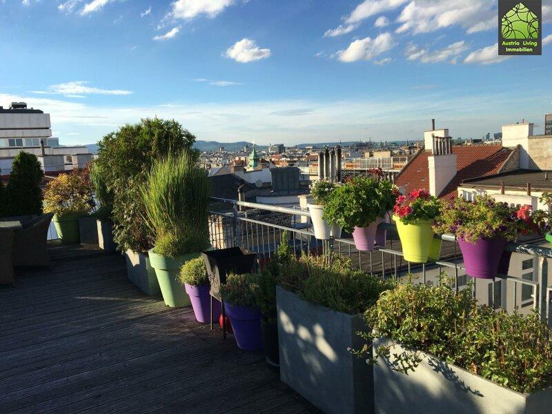 Tolle Dachgeschoßwohnung (eine Ebene) mit großer Terrasse/Rundumblick /  / 1050Wien / Bild 1