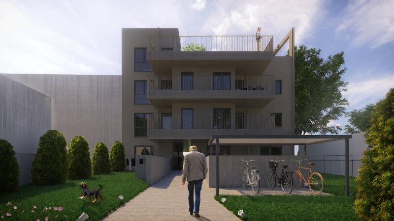 Großzügige 2-Zimmerwohnung mit überdachter Terrasse & Eigengarten, Neubauprojekt, provisionsfrei!