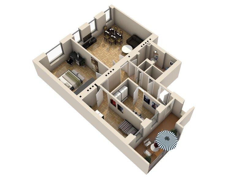 ERSTBEZUG - 4 Zimmer ALTBAU top saniert - 1030 Wien - 3. OG Top 17 ------ U Bahn Nähe - LOGGIA  - Schlafzimmer Hofseitig /  / 1030Wien / Bild 12