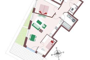 80224 – Wunderschöne 3-Zimmer-Wohnung mit sehr großer Terrasse