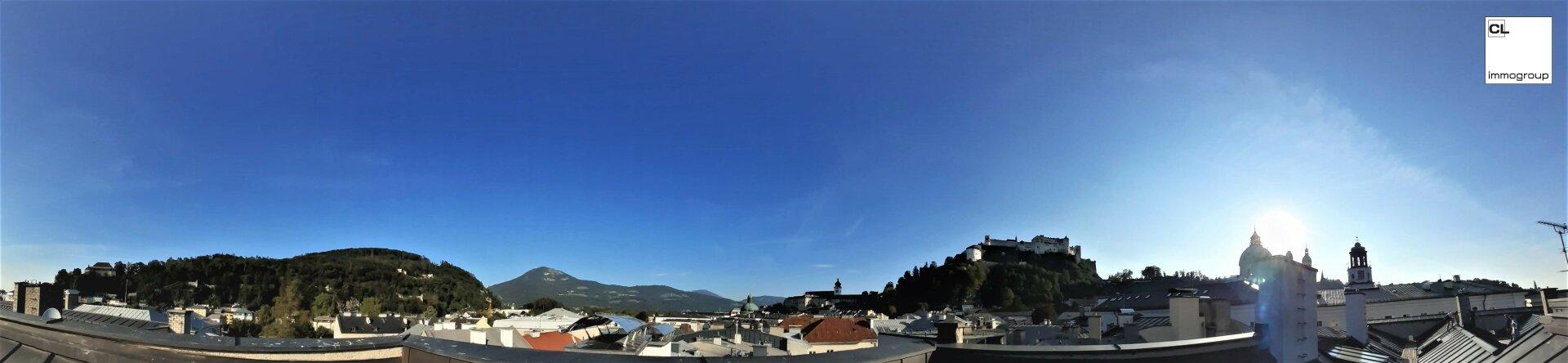 Panorama (Dach) zu Beeindruckend schöne Altbauwohnung im Herzen der Salzburger Altstadt, (c) CL-immogroup, www.CL-immogroup.at
