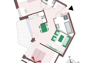 8218 – Genial geschnittene 3-Zimmer-Wohnung mit Balkon