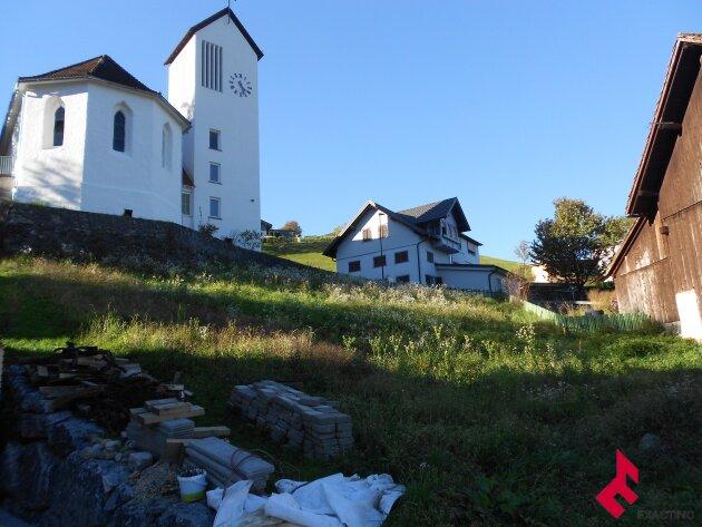 Baugrundstück mit Blick in den Walgau