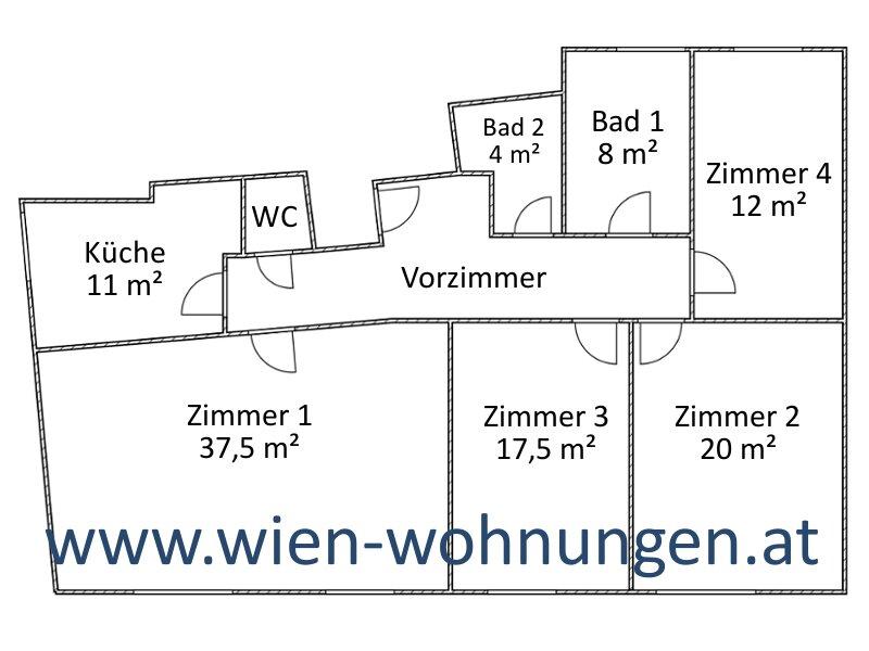 Großzügige Vier-Zimmer-Wohnung /  / 1120Wien / Bild 3
