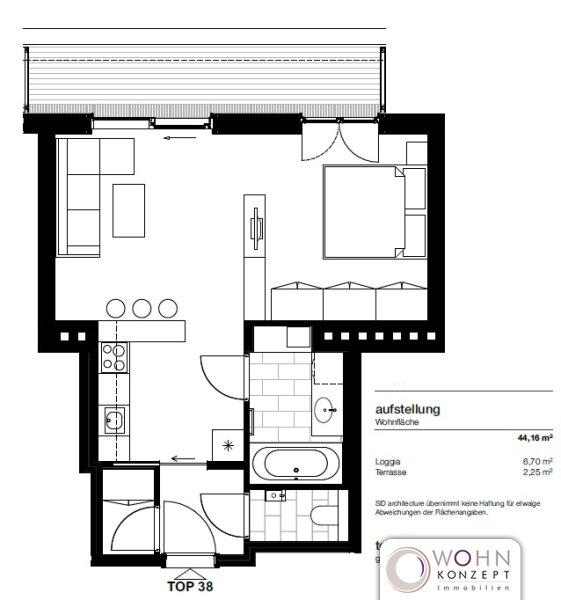 Moderne Dachgeschosswohnung mit Loggia /  / 1050Wien / Bild 7