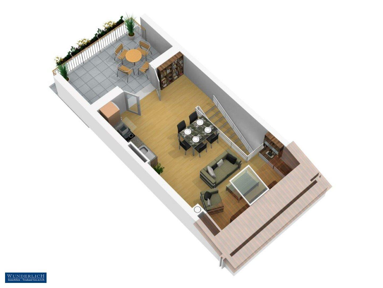 3D-Ansicht 1 Wohnebene 5. Stock