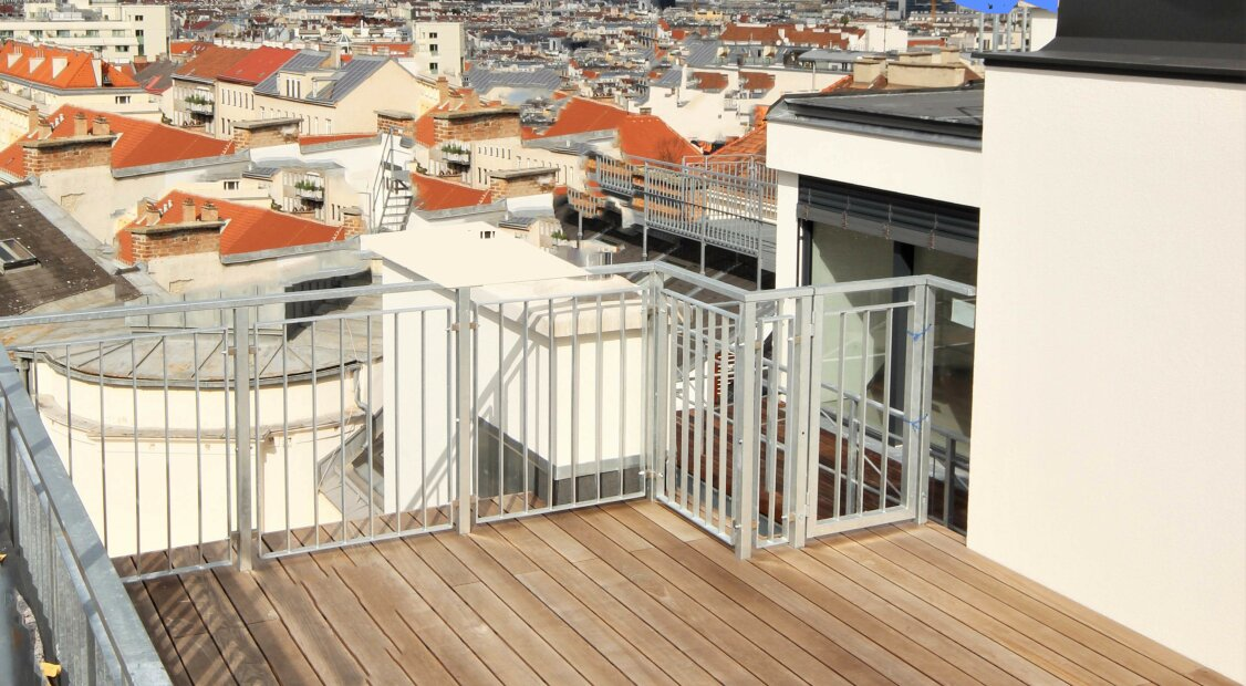 4./5.  SUPERTERRASSE INNENSTADTBLICK DACHERSTBEZUG  SÜD WEST, RUHELAGE, HIGH END