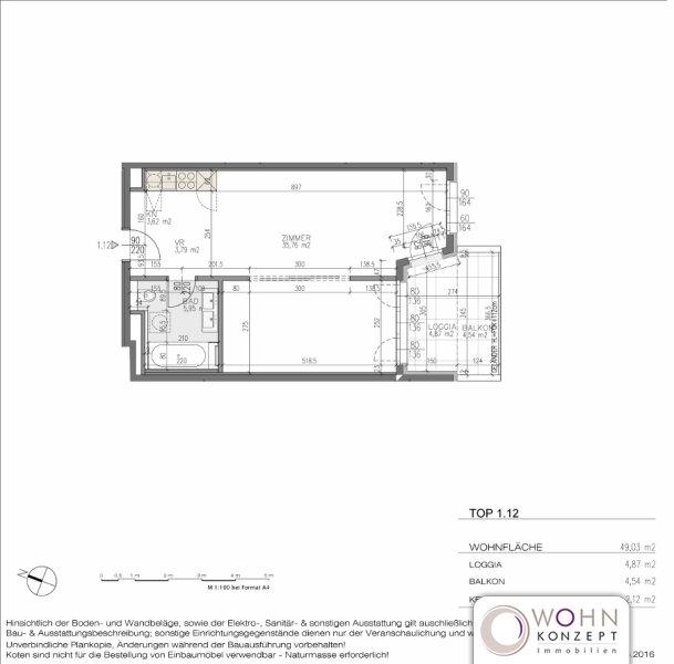 Goldegg Gardens: 54m² Erstbezug + 9,4m² Balkon - 1040 Wien /  / 1040Wien / Bild 10