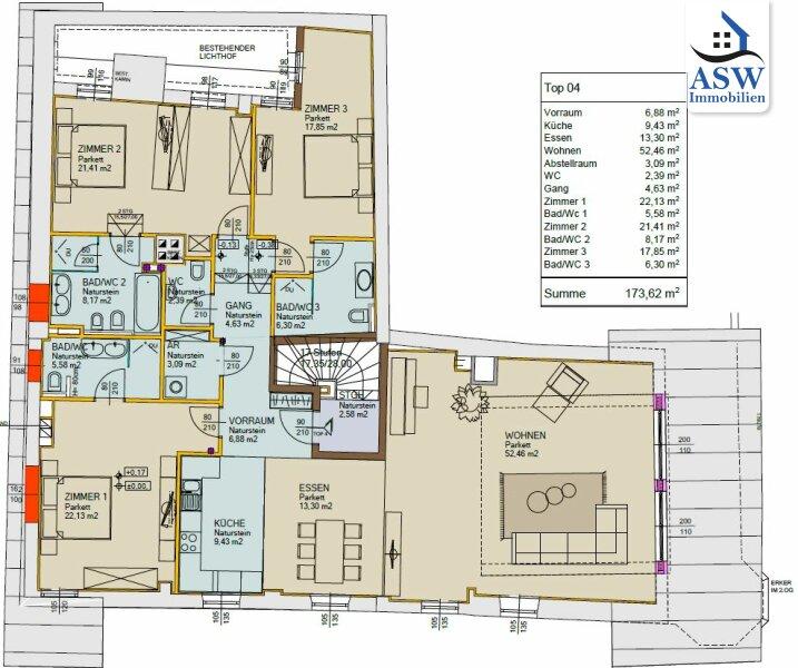 Exklusive 4-Zimmer Dachgeschoßwohnung im Kitzbüheler Zentrum /  / 6370Kitzbühel / Bild 9