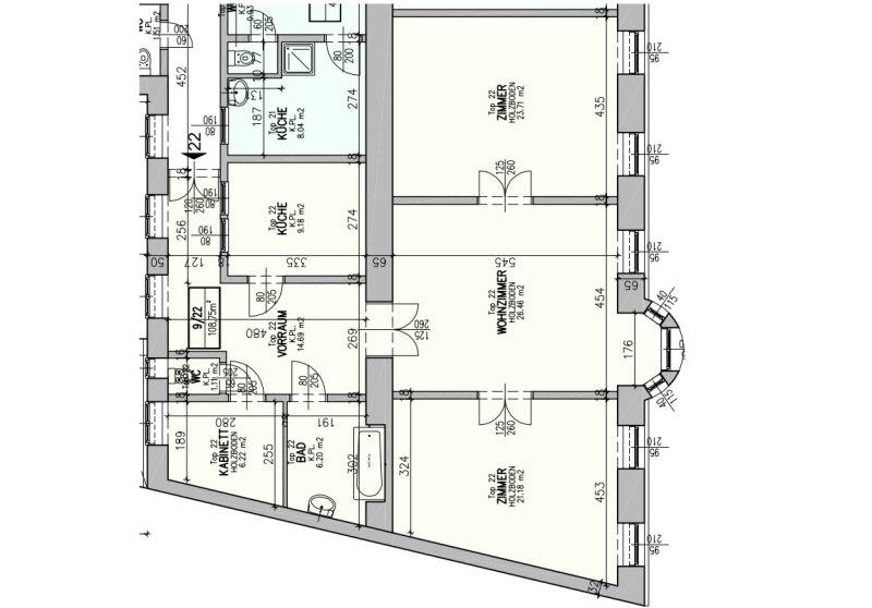++NEU++ Sanierungsbedürftige Stilaltbauwohnung in aufstrebender Lage! 4-Zimmer möglich! /  / 1150Wien / Bild 16