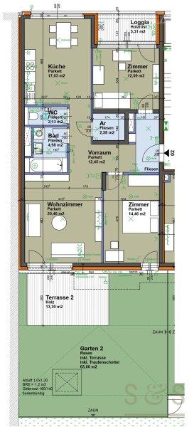 Hochwertige Dreizimmerwohnung mit Eigengarten in Neubauerstbezung /  / 1230Wien / Bild 0
