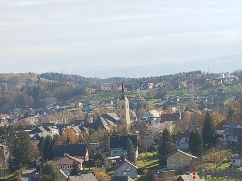 Einfamilienhaus mit Blick auf die Stadt Deutschlandsberg