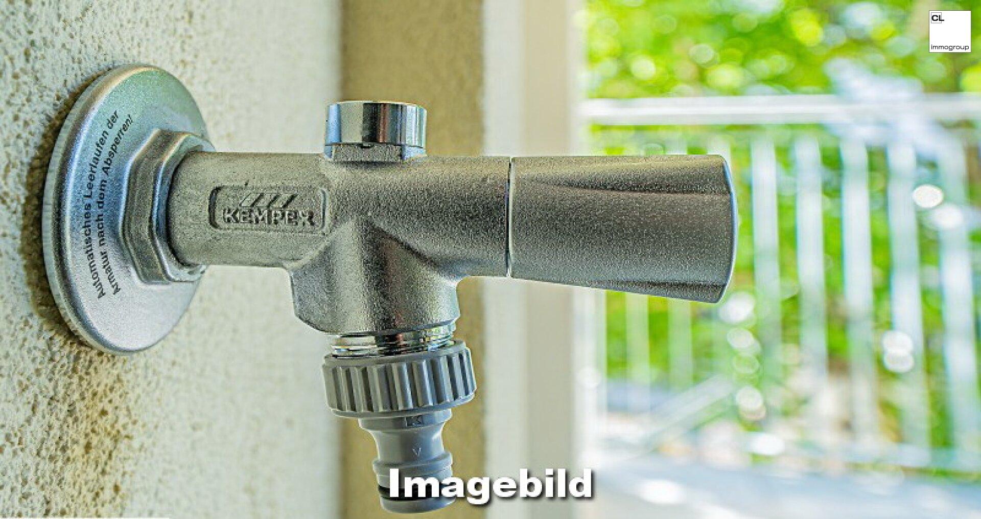 Wasseranschluss auf dem Balkon
