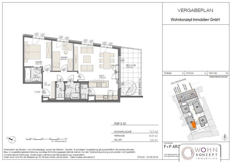 Goldegg Gardens: exklusiver 74m² Neubau + 64m² Terrassen - 1040 Wien /  / 1040Wien / Bild 1