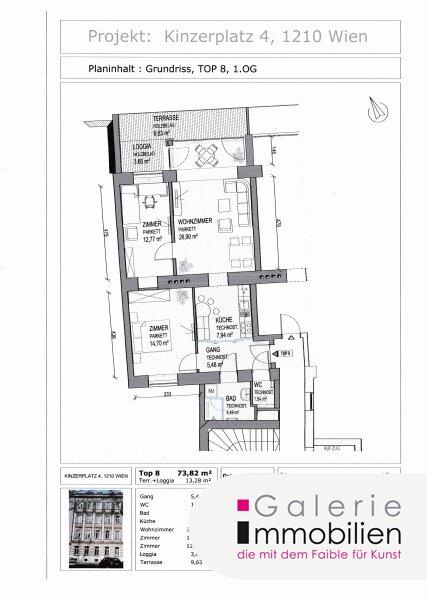 Kinzerplatz 4 - Hochwertige Altbauwohnung mit großer Terrasse in generalsaniertem Gründerzeithaus Objekt_31636