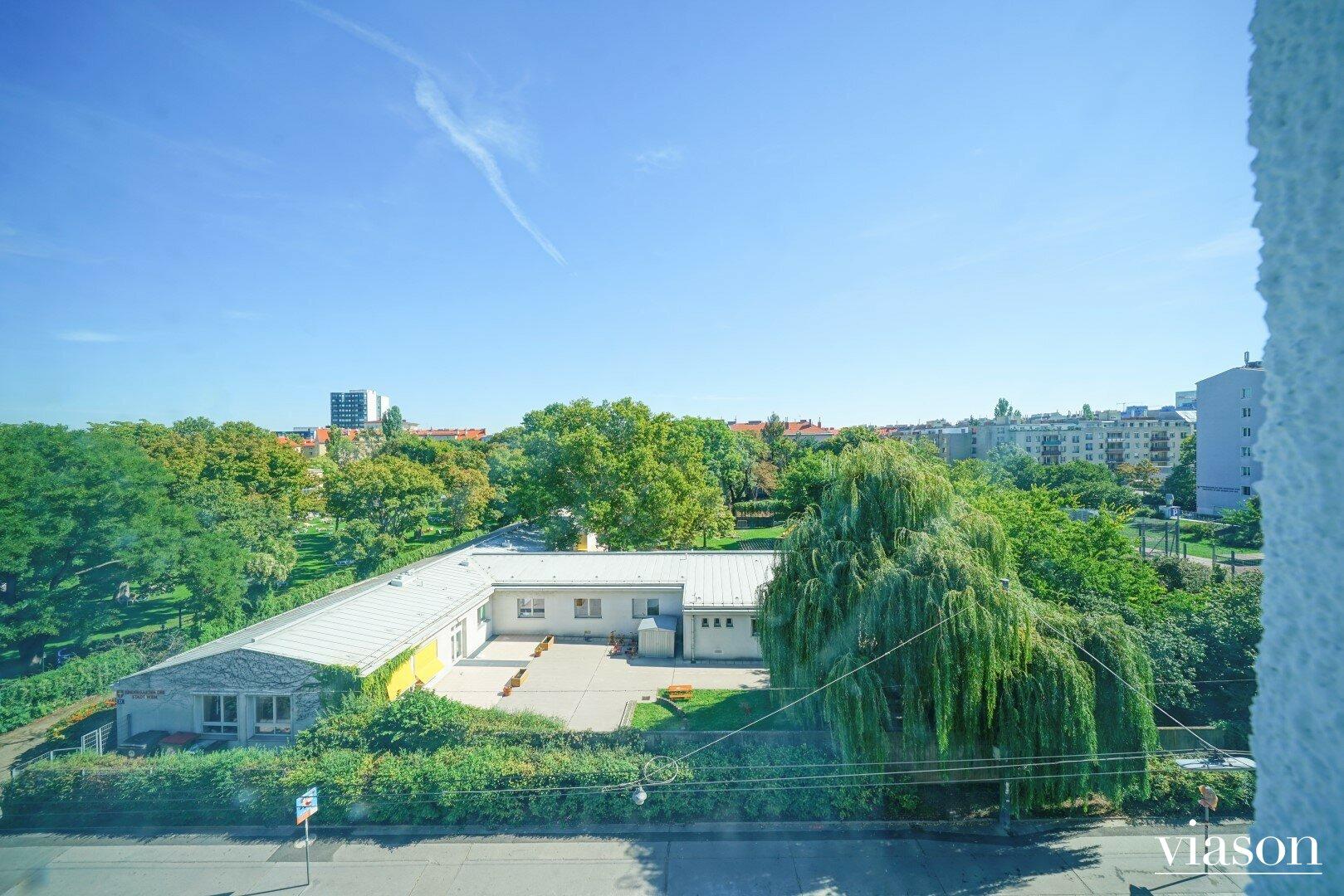 Blick in den Christine-Busta-Park