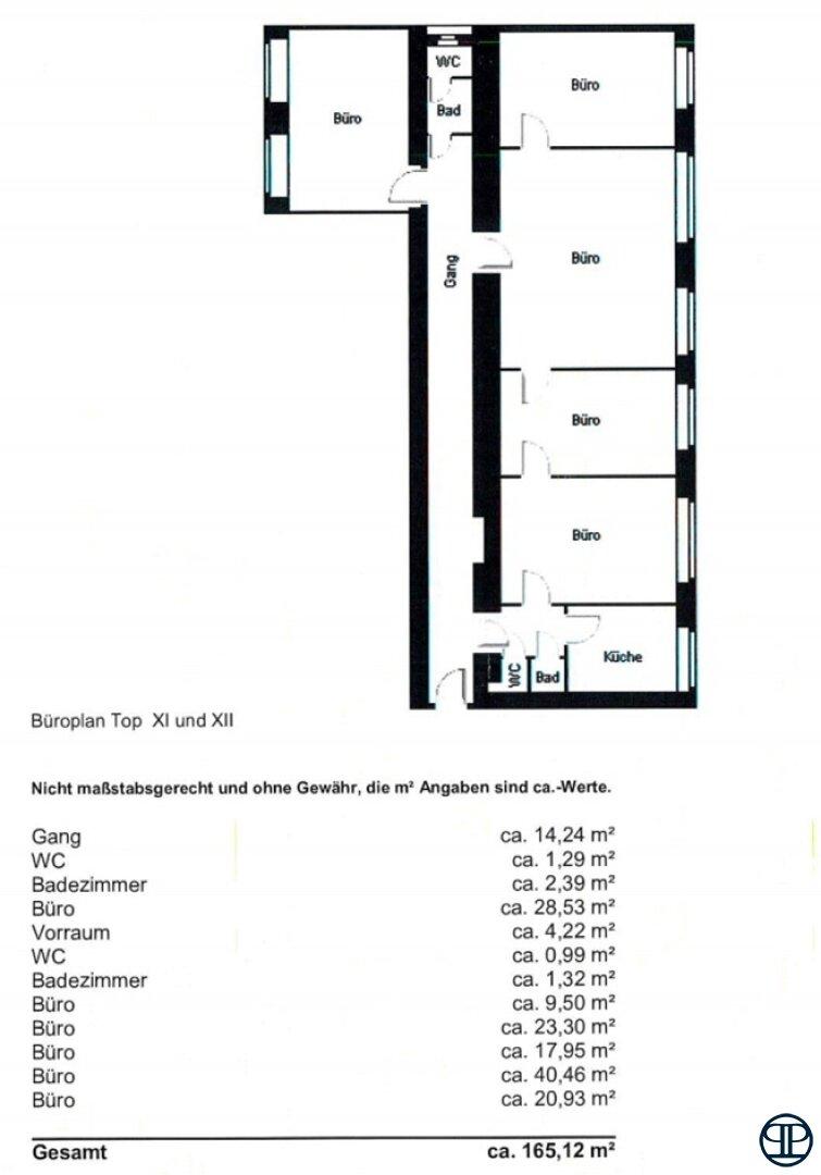 Büroplan Top 11 und Top 12