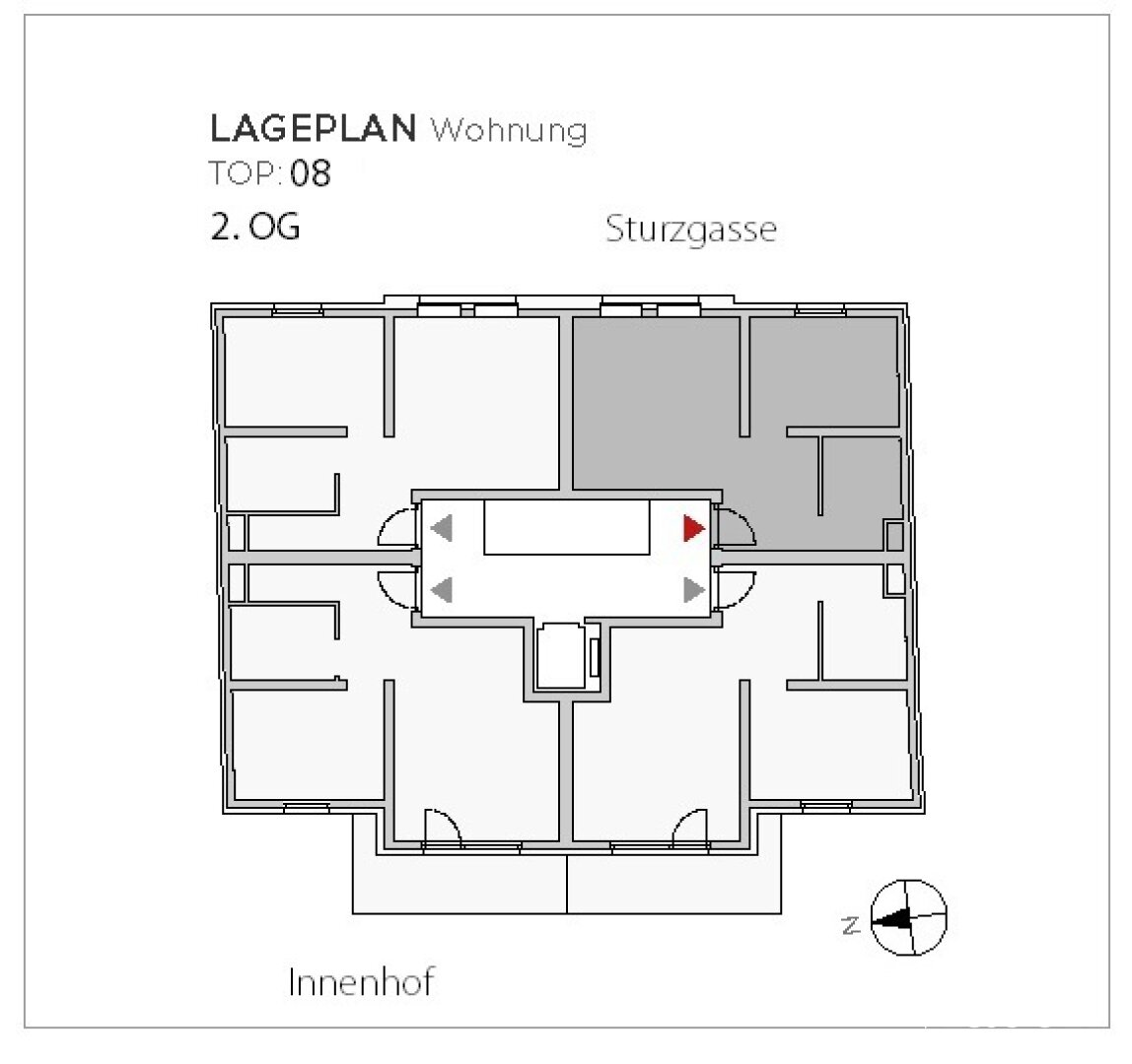 Lage in der Etage