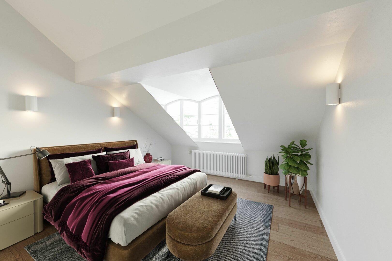 Schlafzimmer - Virtuelles Homestaging