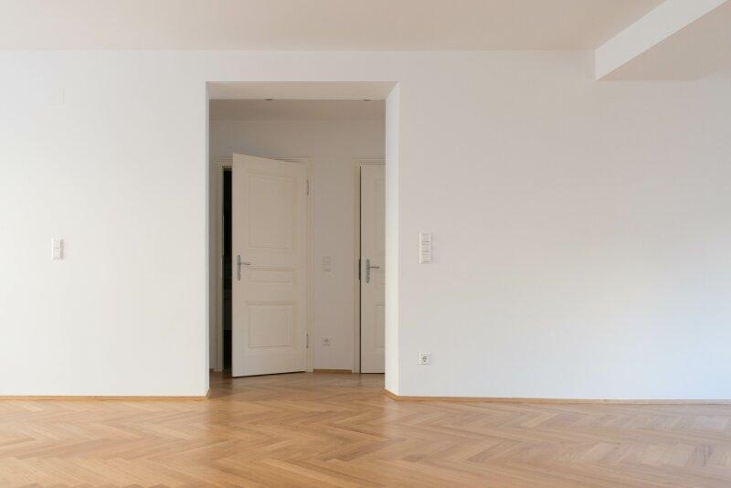 Wohnung in Wien mit modernem Schlafzimmer