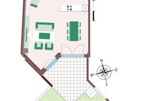Stadtvilla mit 4 Zimmern und Garten mit Zugang zum Biotop