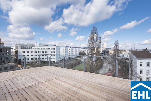 Althan Viertel: lichtdurchflutete Dachgeschosswohnung mit Klimaanlage